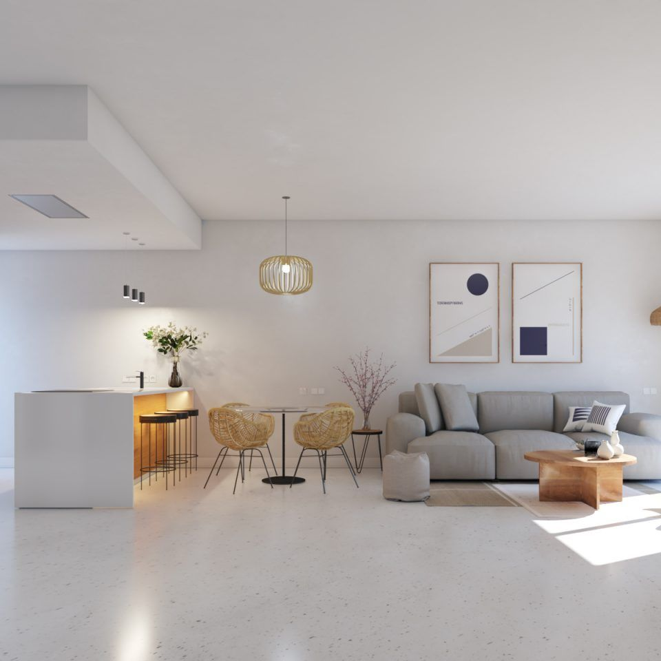 Mediterranean gardens living room
